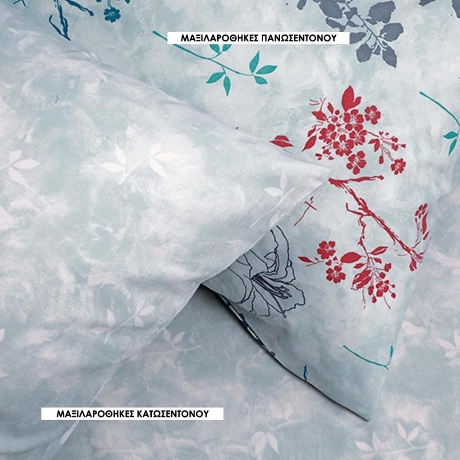 Μαξιλαροθήκες Κ Ultra Fernanda Κατωσεντονο Grey Melinen 50Χ70