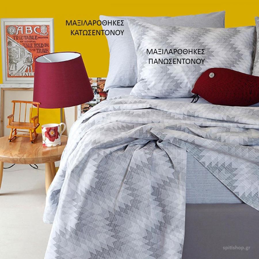 Μαξιλαροθήκες Κ Ultra Textura Κατωσεντονο Grey Melinen 50Χ70