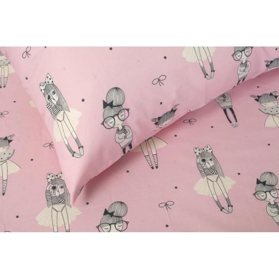 Μαξιλαροθήκες Kids Cute Pink Melinen 52X72