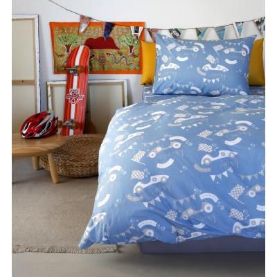 Μαξιλαροθήκες Kids Race Blue Melinen 52X72