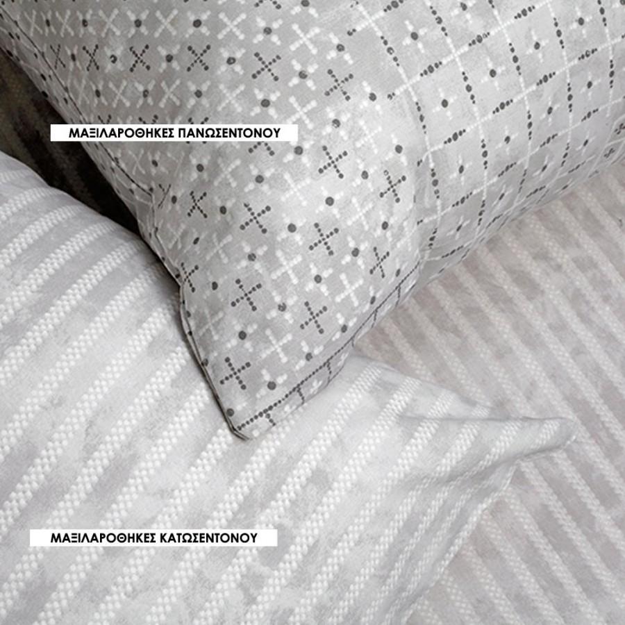 Μαξιλαροθήκες Π Ultra Fabien Πανωσεντονο Grey Melinen 50Χ70