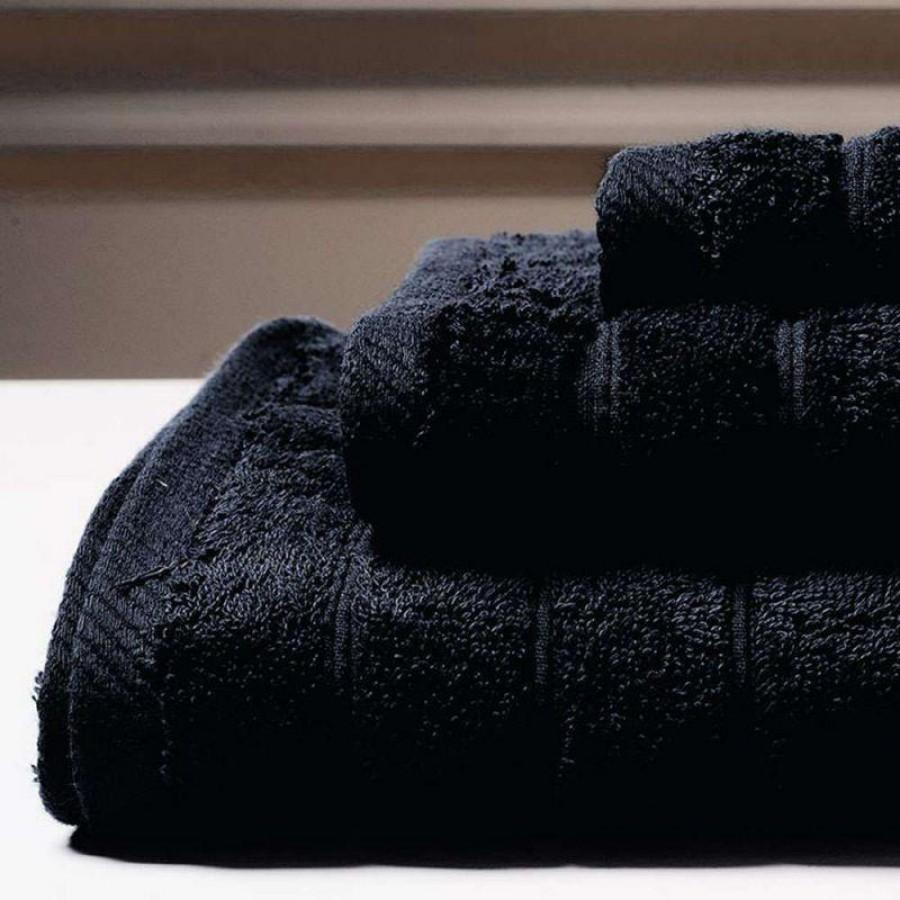 Πετσέτα Μπάνιου Colours Black Melinen 80Χ150