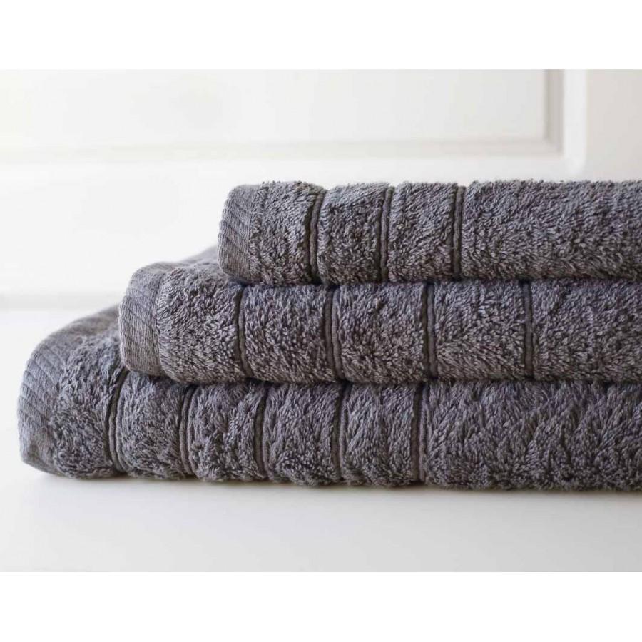 Πετσέτα Μπάνιου Colours Dark Grey Melinen 80Χ150