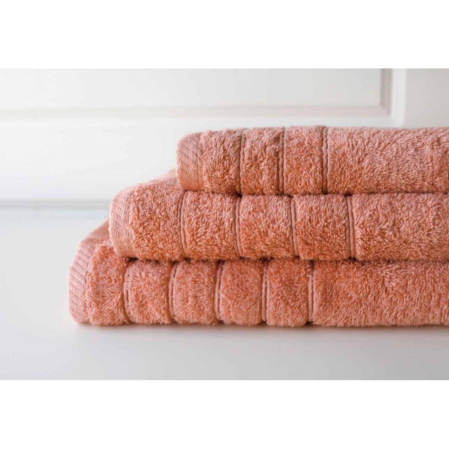 Πετσέτα Μπάνιου Colours Dark Salmon Melinen 80Χ150