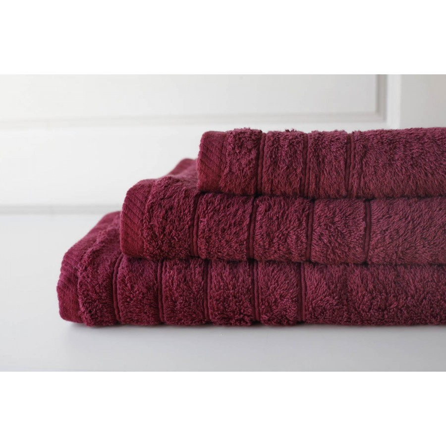Πετσέτα Προσώπου Colours Bordeaux Melinen 50Χ90