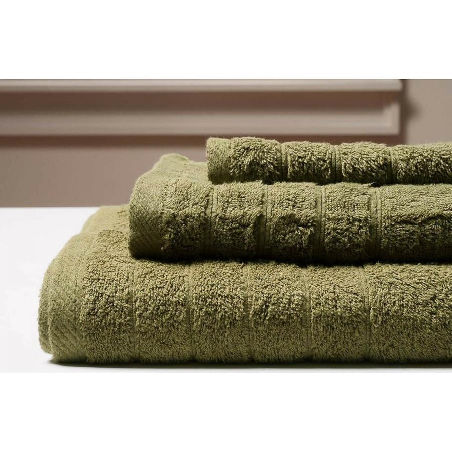 Πετσέτα Προσώπου Colours Olive Melinen 50Χ90
