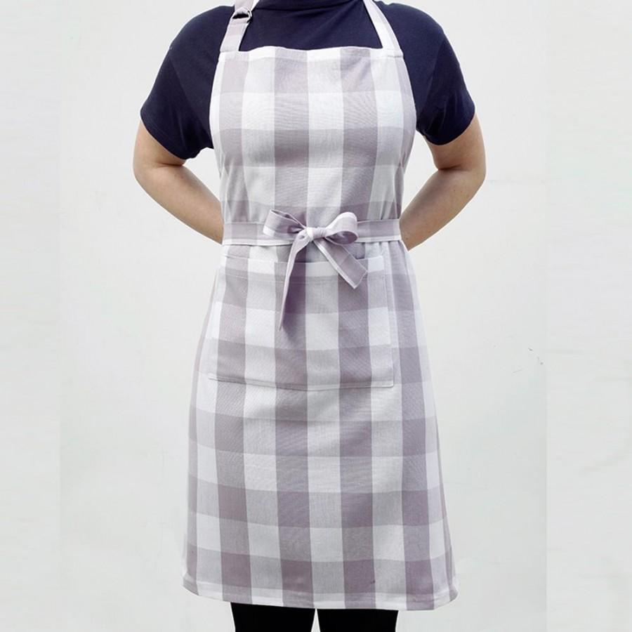 Ποδιά Κουζίνας Big Check Lilac Melinen 60X76