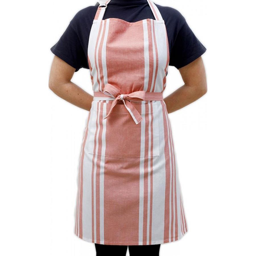Ποδιά Κουζίνας Stripes Apple Melinen 60X76