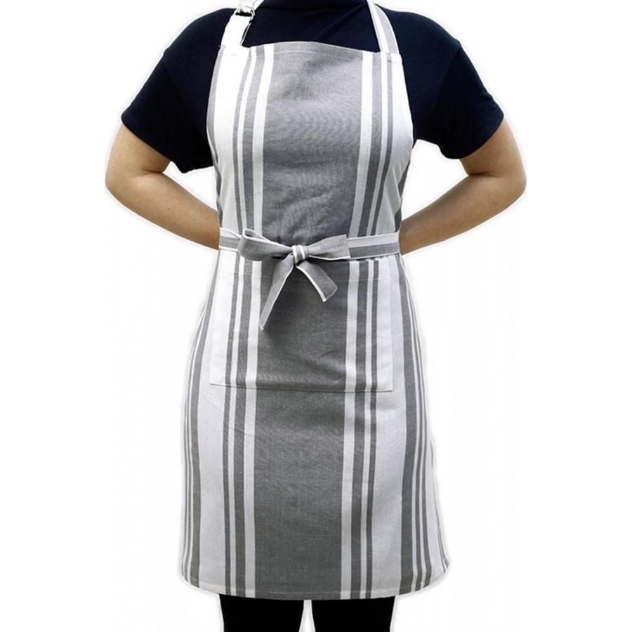Ποδιά Κουζίνας Stripes Grey Melinen 60X76