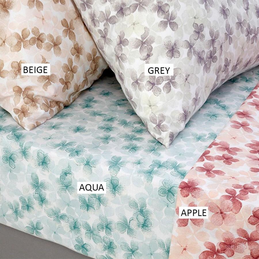 Σεντόνι Ημίδιπλο Με Λάστιχο Urban Mixology Floral Apple Melinen 120X200+35
