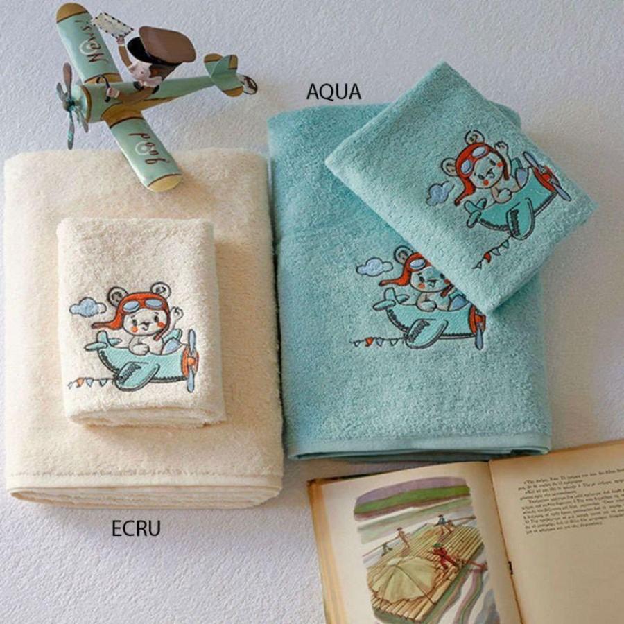 Σετ Παιδικές Πετσέτες Explorer Ecru Melinen 40X60 - 70X140