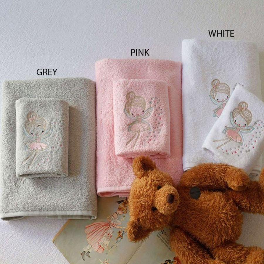Σετ Παιδικές Πετσέτες Fairy White Melinen 40X60 - 70X140