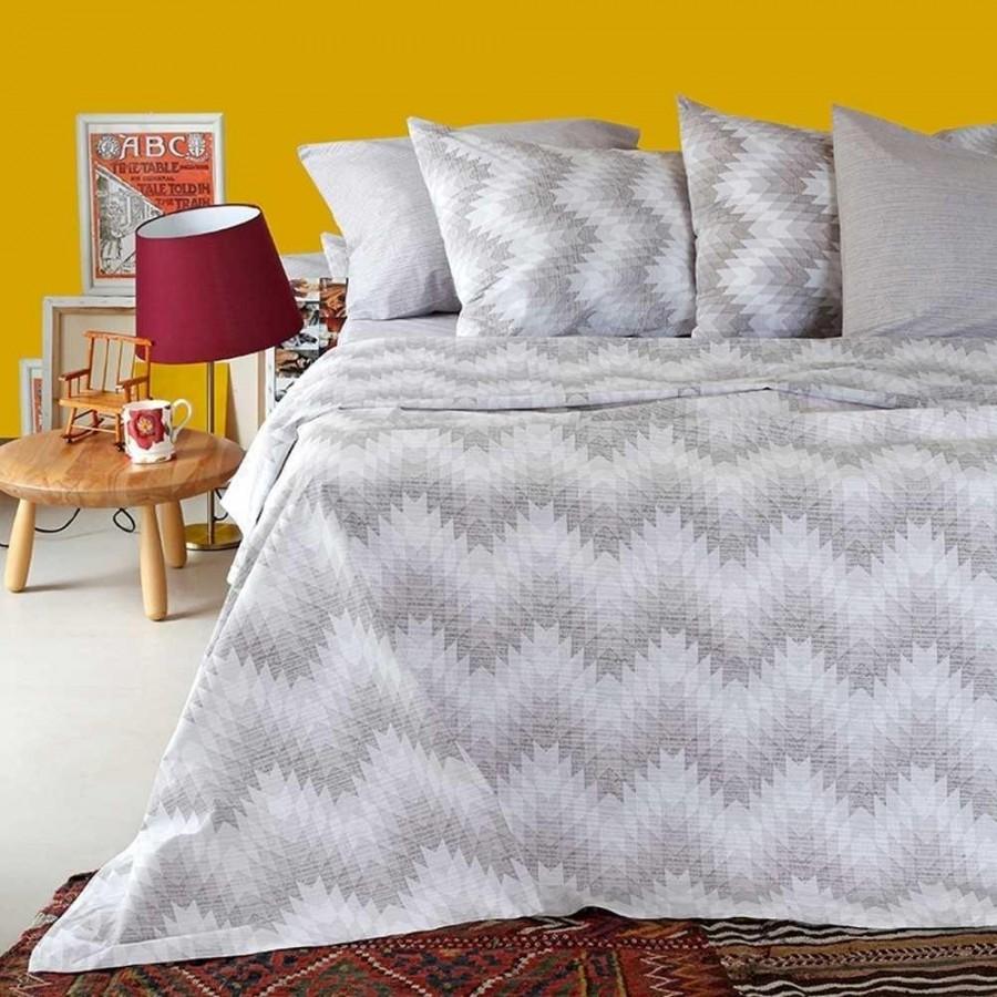 Σετ Σεντόνια Υπέρδιπλα Ultra Textura Beige Melinen 235Χ270
