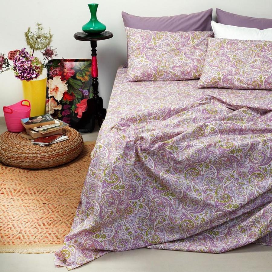 Σετ Σεντόνια Μονά Ultra Paisley Violet Melinen 160X260