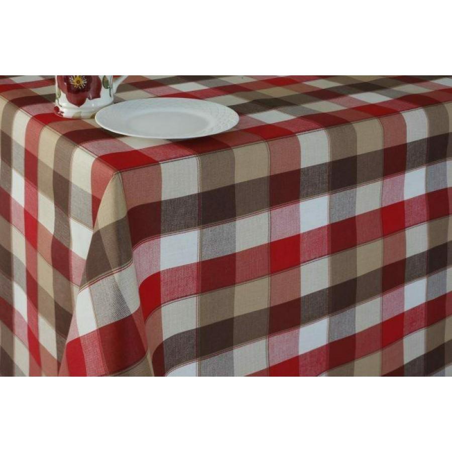 Τραπεζομάντηλο Κουζίνας Granata Red Melinen 140Χ220