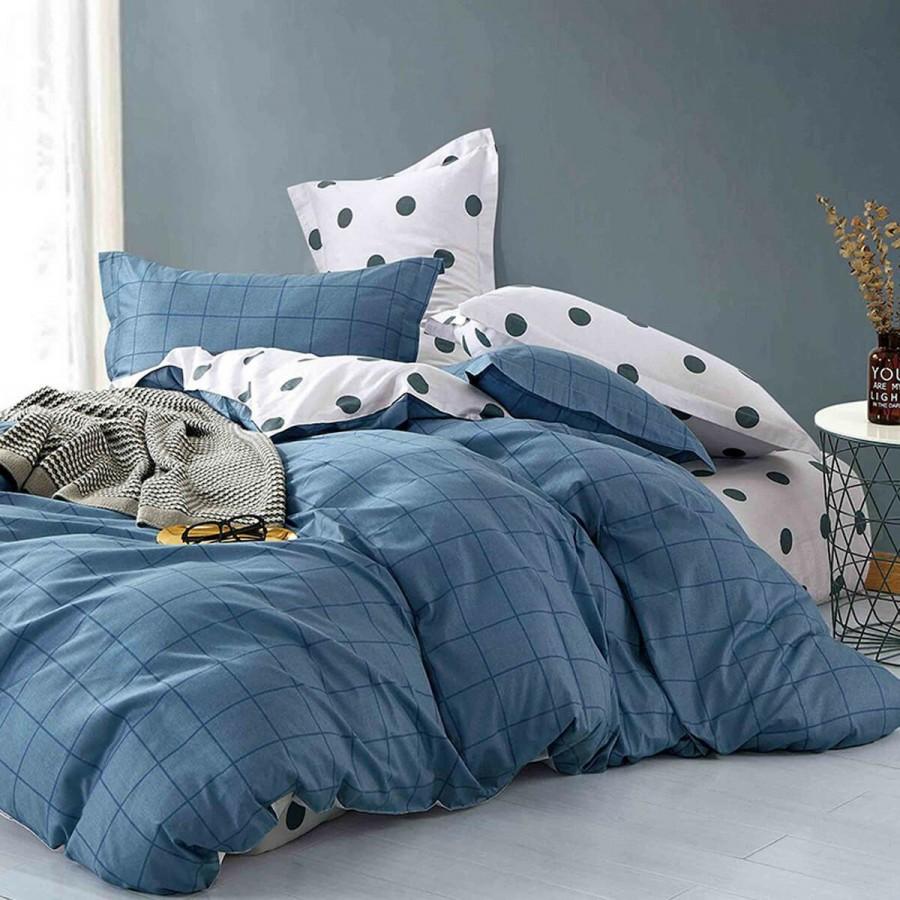 Ζευγος Μαξιλαροθήκες Prime Kids Dot Boy Blue Melinen 50Χ70