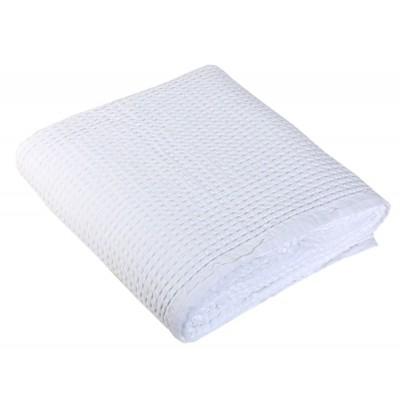 Κουβέρτα Πικέ Μονή New Golf 200-White 160x240