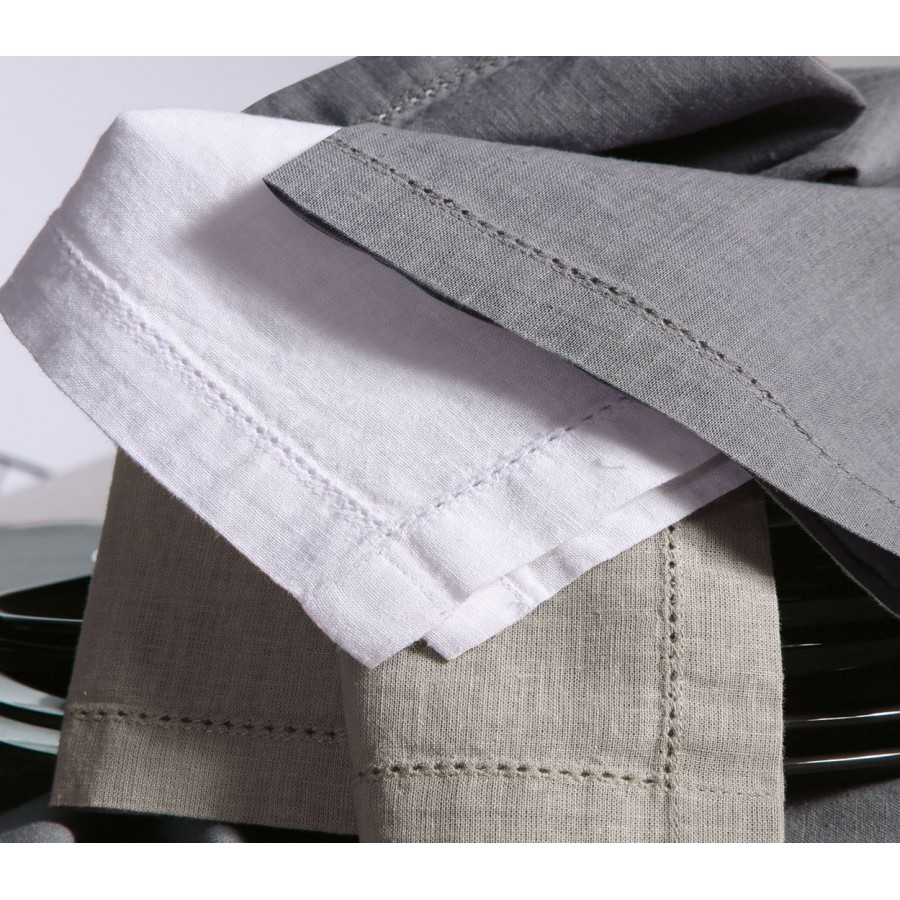 Πετσέτα Φαγητού Βαμβάκι - Linen White 50x50