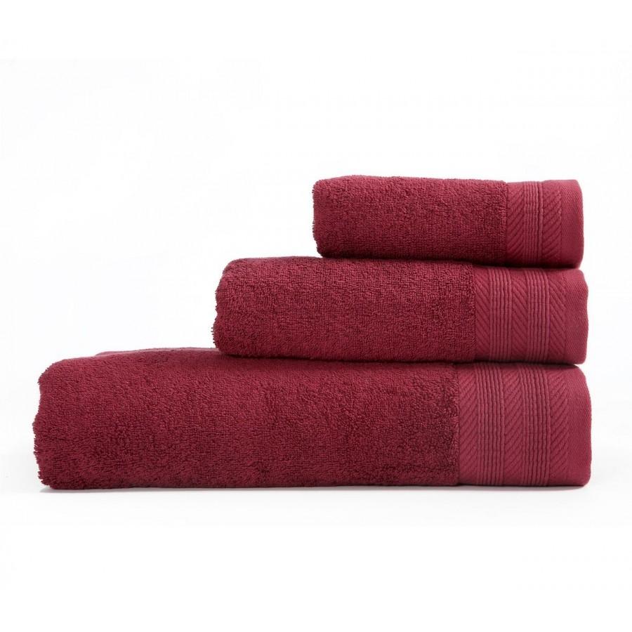 Πετσέτα Προσώπου Life 1127-Bordo 50x90