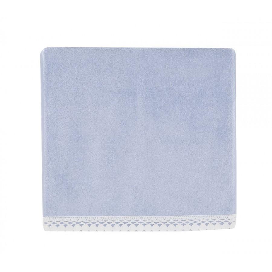 Σετ Πετσέτες 2Τμχ Crochet 1146-Blue Nef-Nef 30X50 - 50X90