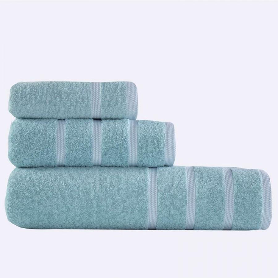 Σετ πετσέτες Μπάνιου Βαμβακερές Nef-Nef Madison Aqua-White