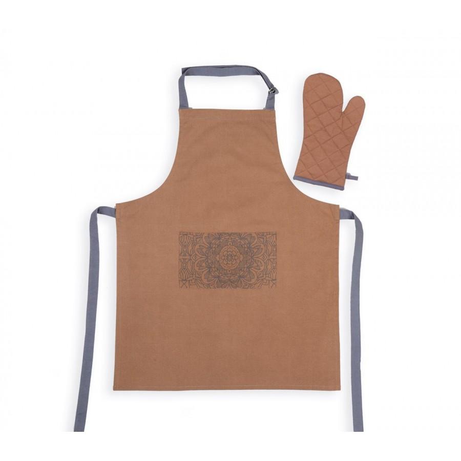 Σετ Ποδιά & Γάντι Κουζίνας Amadeus Mustard Nef-Nef 63X79