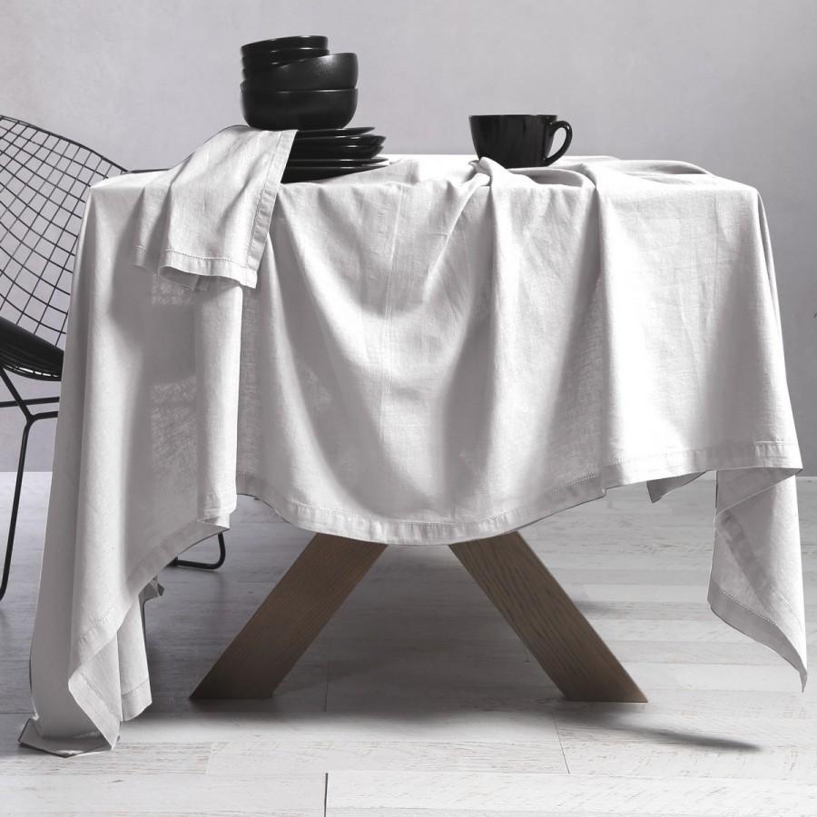 Τραπεζομάντηλο Βαμβάκι - Linen 150X250 White