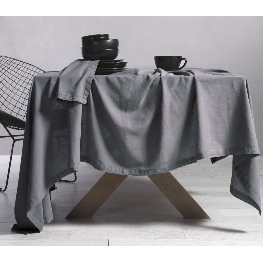 Τραπεζομάντηλο Βαμβάκι - Linen 150X300 Grey