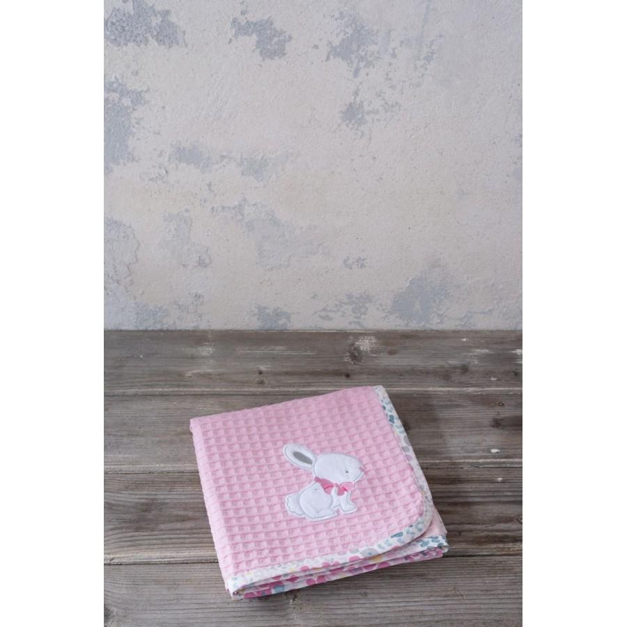 Κουβέρτα Πικέ Some Bunny Nima Κούνιας 110X140