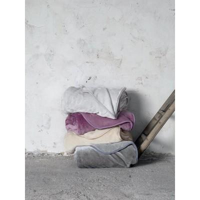 Κουβέρτα Βελουτέ Υπέρδιπλη Coperta Gray Nima 220X240