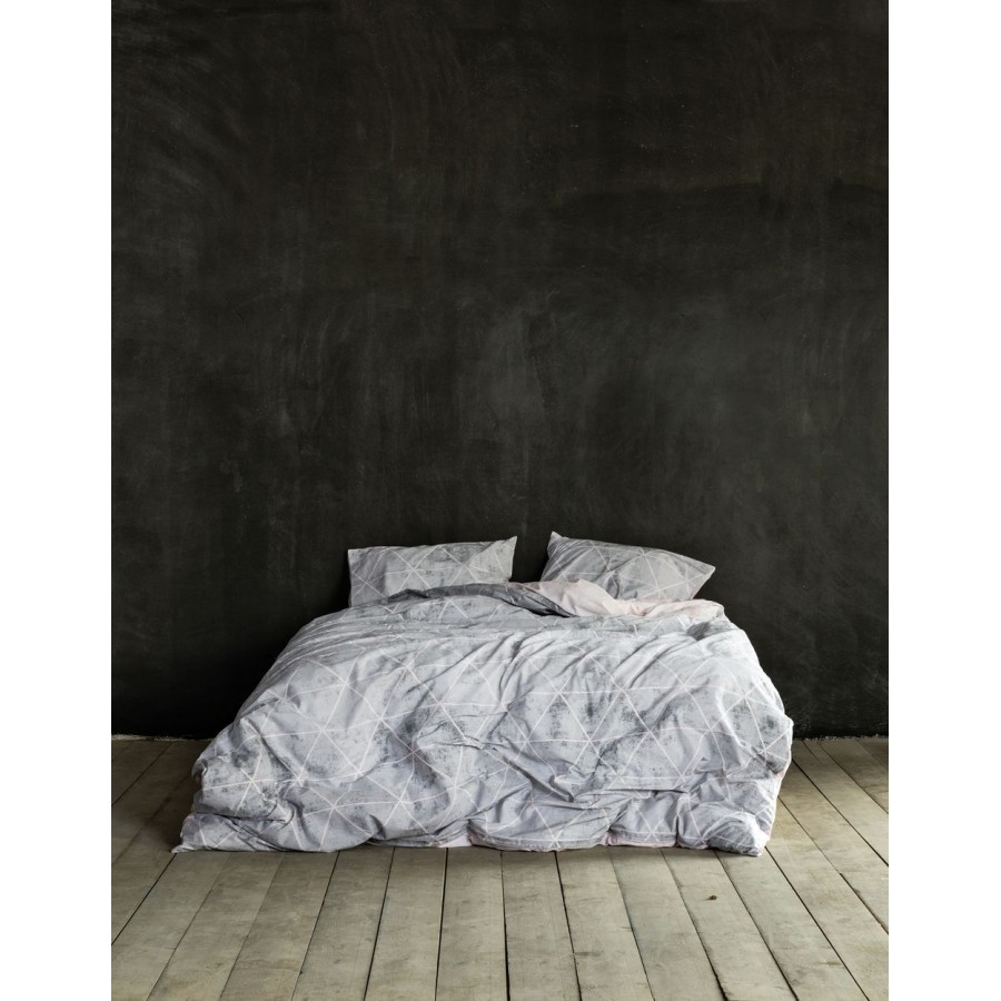 Nima Σετ Παπλωματοθήκη Μονή - Swank Gray 160x240