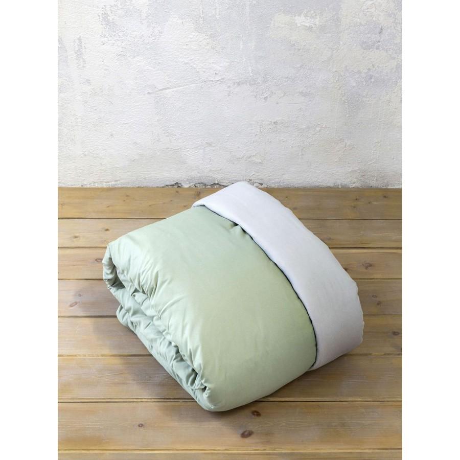 Nima Σετ Παπλωματοθήκη Μονή Abalone - Green-Gray 160x240