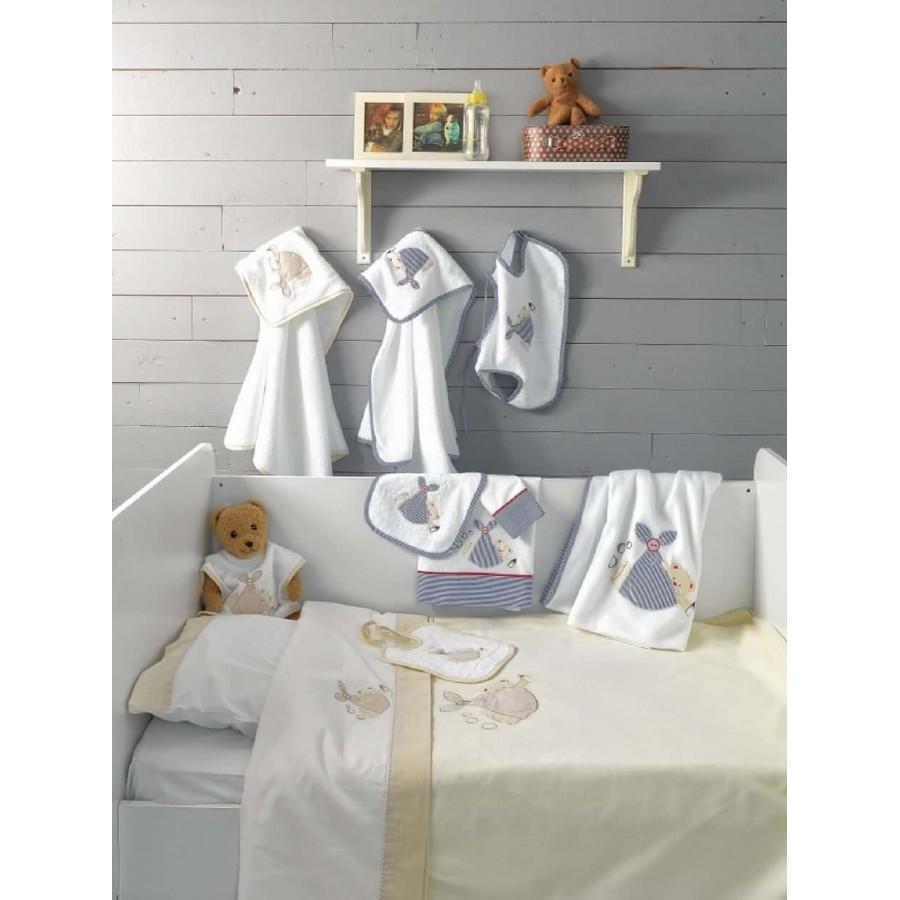 Κουβέρτα bebe fleece bj453 Μπλέ 120X150 Palamaiki
