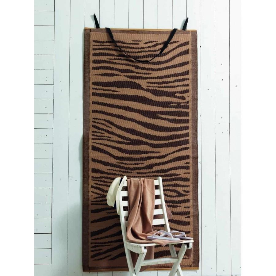 Σετ Ψάθα καιΠετσέτα θαλάσσης zebra 75X150 Palamaiki
