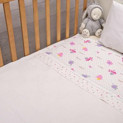Πικέ Κουβέρτα Animals Ροζ Abo 100x150