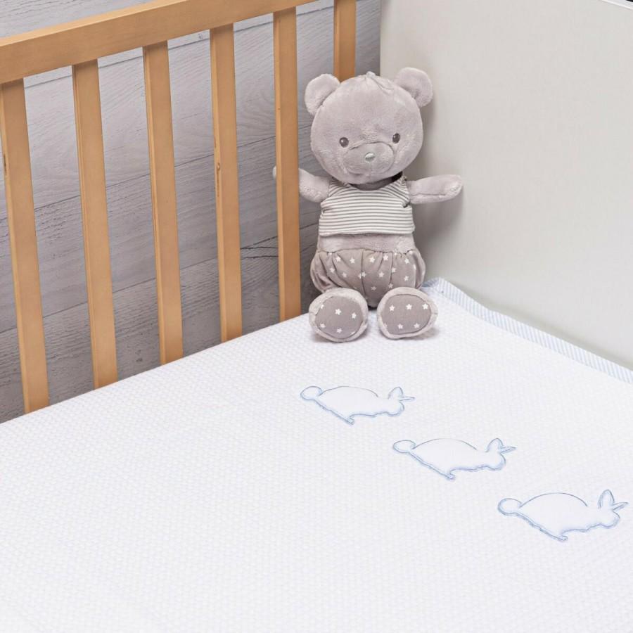 Πικέ Κουβέρτα Rabbit Blue Abo 100x150
