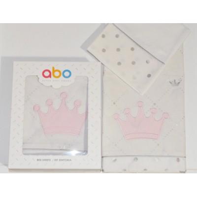 Σετ Σεντόνια 3Τμχ Queens Crown Abo 70x140