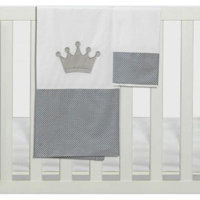 Σετ Σεντόνια Καλαθούνας-Λίκνου 3Τμχ Royal Abo 75x100