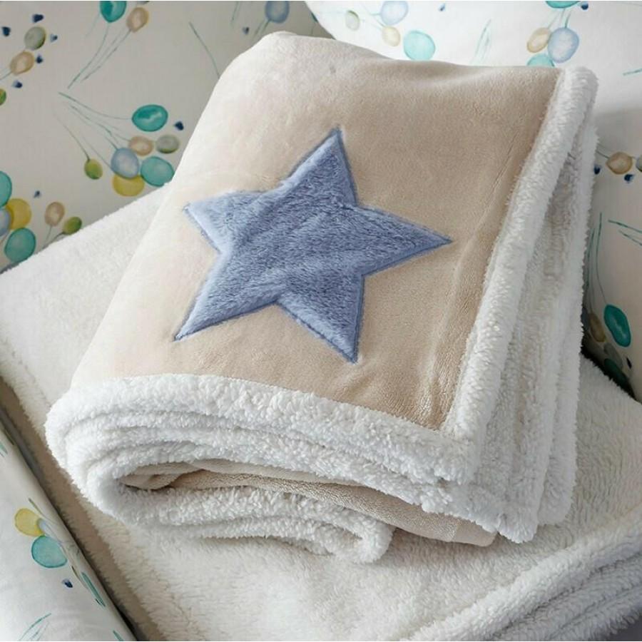 Κουβέρτα Αγκαλιάς Baby Star Blue Melinen 80Χ110