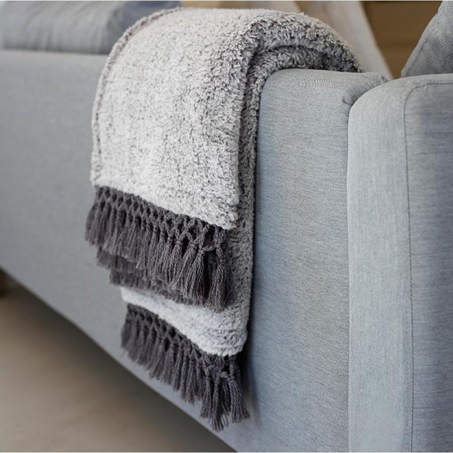 Κουβέρτα Καναπέ Twiggy Grey Melinen 130X170