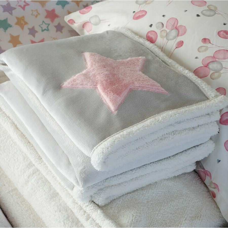 Κουβέρτα Κούνιας Baby Star Pink Melinen 100Χ150