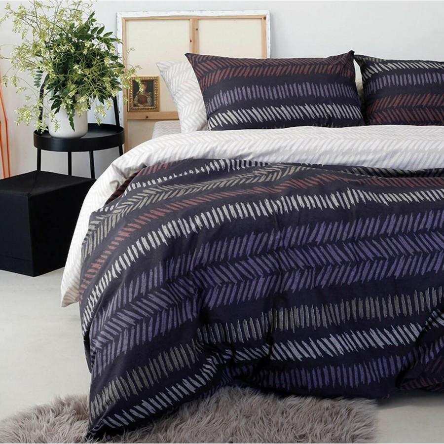 Μαξιλαροθήκες Κ Ultra Ελευθερία Blue/Black Melinen 50Χ70