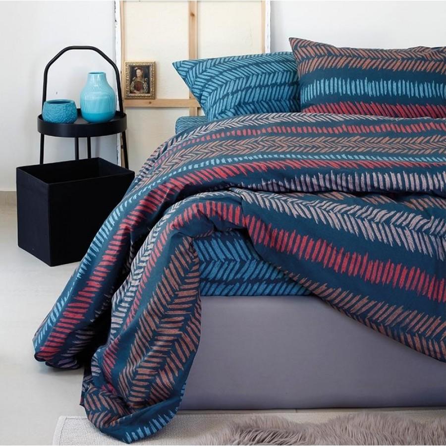 Μαξιλαροθήκες Κ Ultra Ελευθερία Indigo Μπλε Melinen 50Χ70