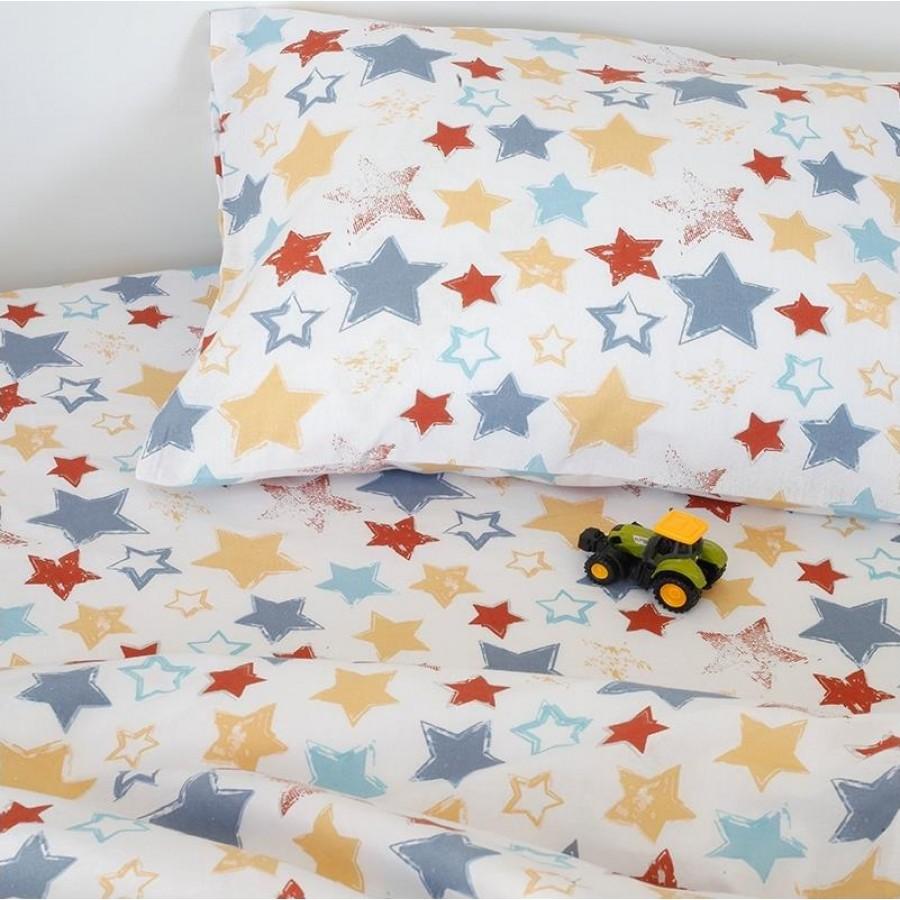 Μαξιλαροθήκες Kids Star Boy Melinen 50X70