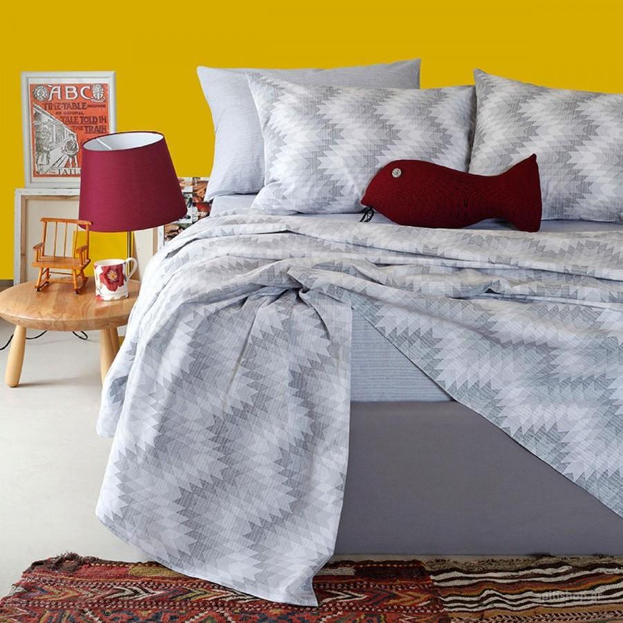Πάπλωματοθήκη Μονή Ultra Textura Grey Melinen 160X245