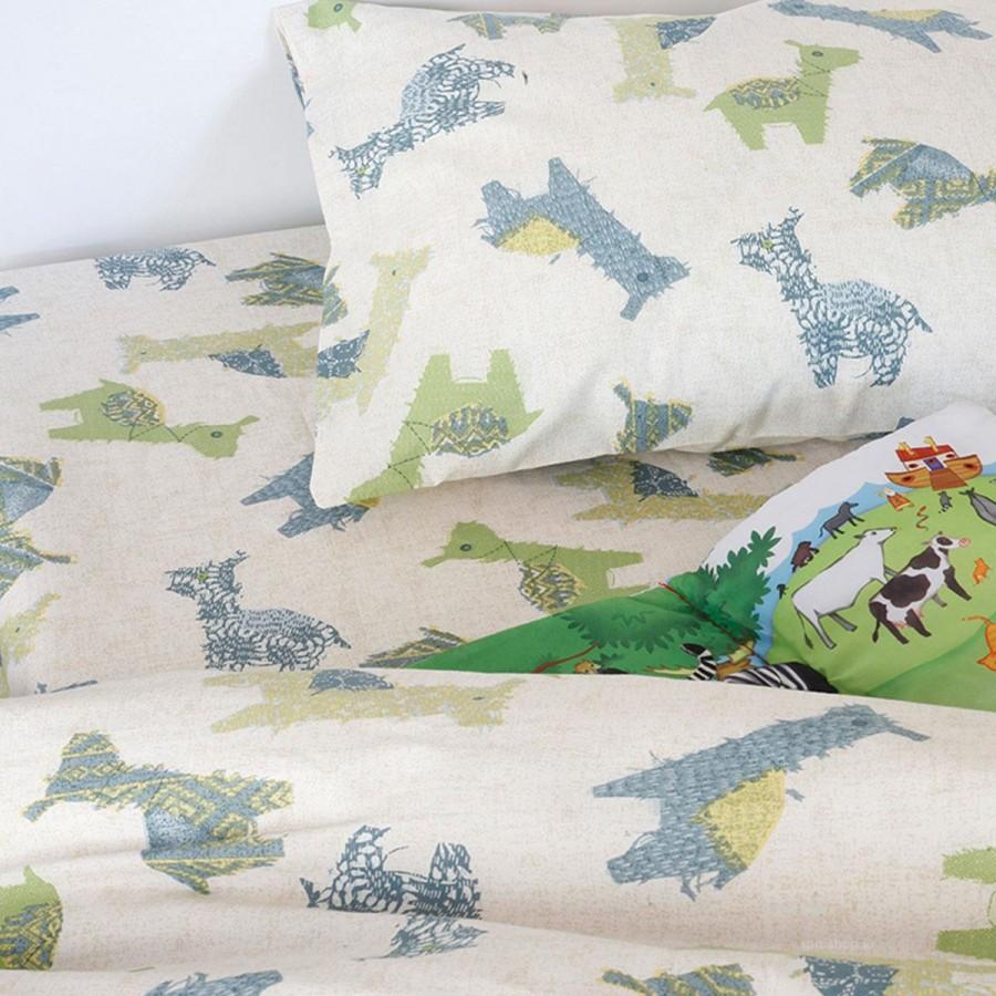 Σεντόνι Κούνιας Baby Animal Boy Melinen 120X170