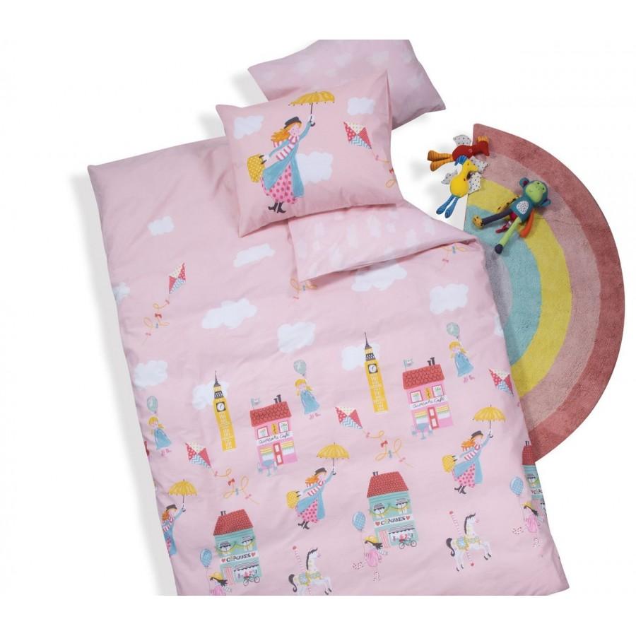 Παιδικά Σεντόνια Μονά Σετ Mary Poppins Pink Nef-Nef 160Χ260