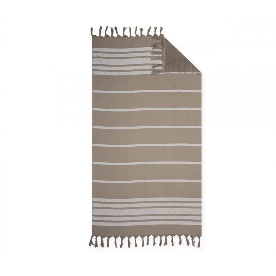 Πετσέτα Θαλάσσης Παρεό Reflect Brown 90X170