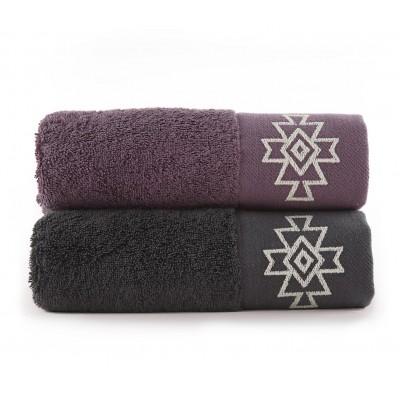 Σετ Πετσέτες Alicia Anthracite Nef-Nef Σετ πετσέτες 30X50 - 50X90 - 70X140