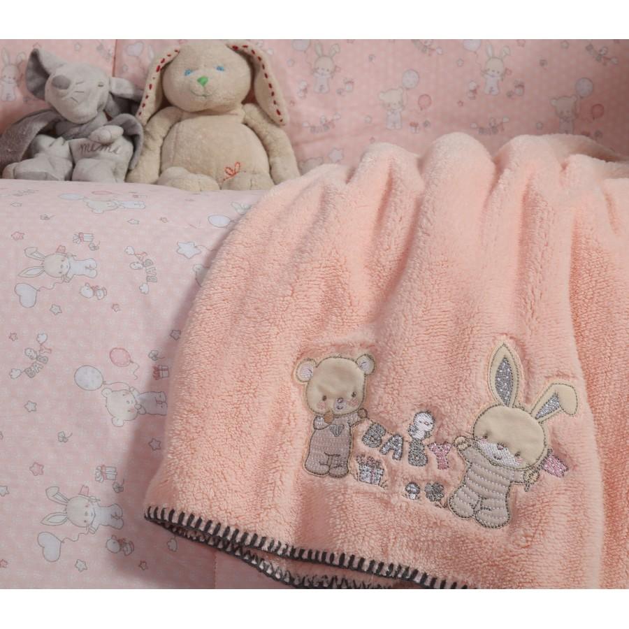 Βρεφική Κουβέρτα Fleece Αγκαλιάς Play In My Room  Nef-Nef  80X110